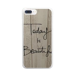 トゥデイイズビューティフル Clear smartphone cases