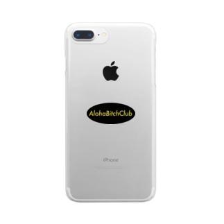 AlohaBitchClub オリジナル Clear smartphone cases