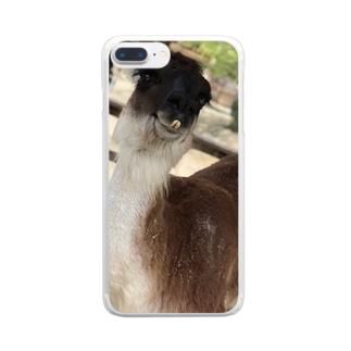 アルパカぱかぱか Clear smartphone cases