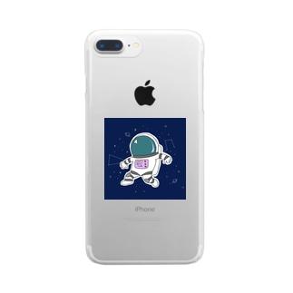 宇宙飛行士スマホカバー Clear smartphone cases