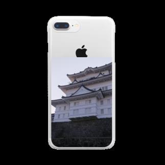 Sakura-yuanの城(小田原) Clear smartphone cases