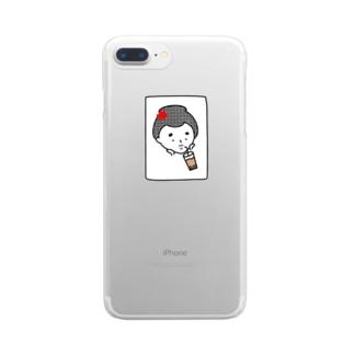 はんなりがーる。(タピ) Clear smartphone cases