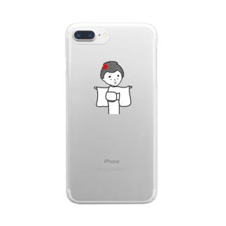 はんなりがーる。(どう?) Clear smartphone cases