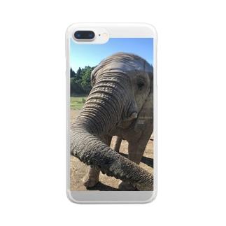 ゾウさんこんにちは Clear smartphone cases