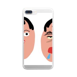 社蓄くん Clear smartphone cases