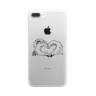 ラブアンドピース Clear smartphone cases
