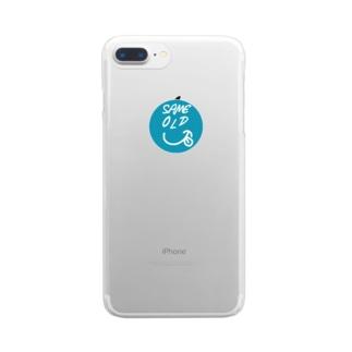 透明 セイムオールド くん Clear smartphone cases