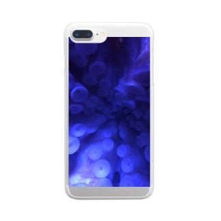 タコの吸盤 Clear smartphone cases
