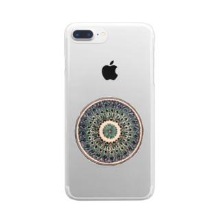 ウズベキスタンの丸模様 Clear smartphone cases