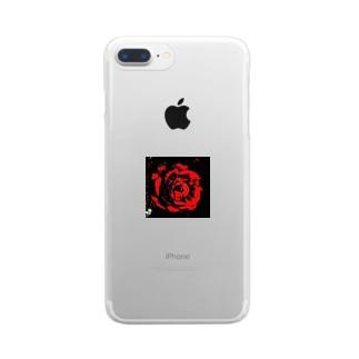 赤い薔薇 Clear smartphone cases