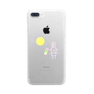 十五夜うさぎ Clear smartphone cases