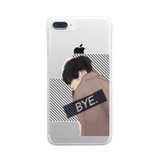 ボーイフレンド Clear smartphone cases