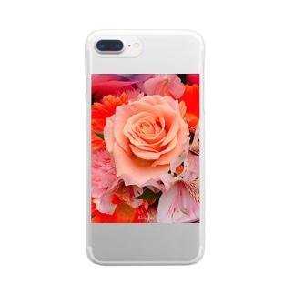 フラワーブーケのiPhoneケース Clear smartphone cases