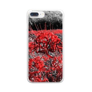 地獄 〜曼珠沙華〜 Clear smartphone cases