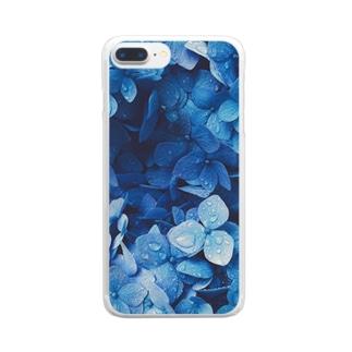 憂鬱と青 Clear smartphone cases