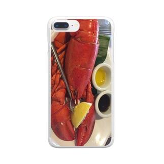 ロブスター Clear smartphone cases