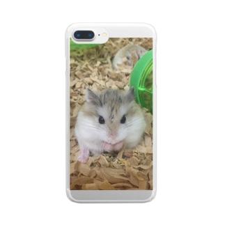 ロボハム、もぐもぐ。 Clear smartphone cases