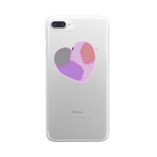 はーとぶれいく(縫合済) Clear smartphone cases