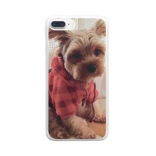 哀愁犬 Clear smartphone cases