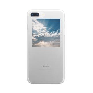 花浅葱の空 Clear smartphone cases