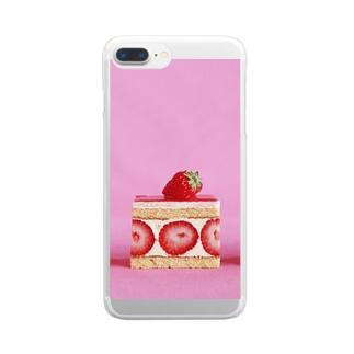 ケーキはいかが? Clear smartphone cases