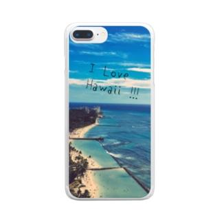 ハワイの海 Clear smartphone cases