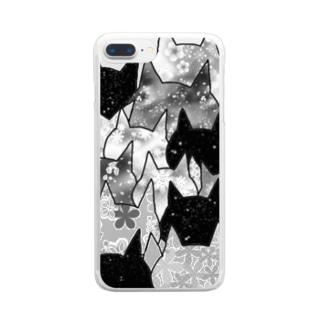 モードなねこ達 Clear smartphone cases