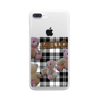 ゆめかわベアー Clear smartphone cases