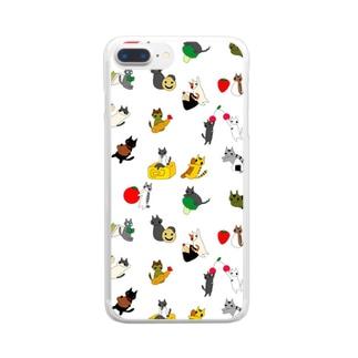 たべものとねこ Clear smartphone cases
