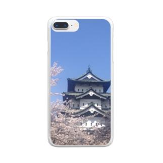 弘前城 Clear smartphone cases