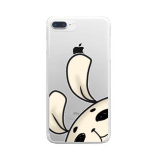 虚無うさぎ Clear smartphone cases