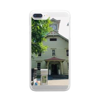 北海道時計台 Clear smartphone cases