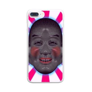 アホ太郎 Clear smartphone cases