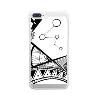 がちゃがちゃ Clear smartphone cases