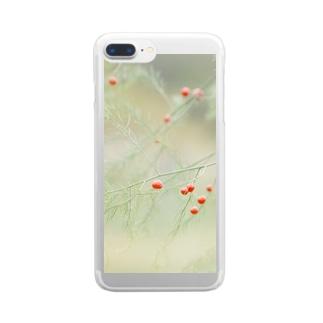 アスパラ。 Clear smartphone cases