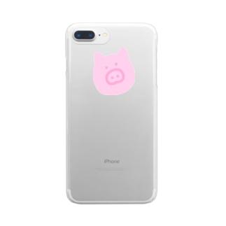 ぶたくん Clear smartphone cases