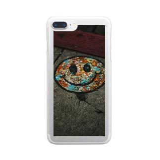 スマイル Clear smartphone cases