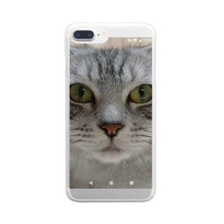 ぼく、ハクです Clear smartphone cases
