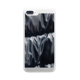 なんだかきもちわるい Clear smartphone cases