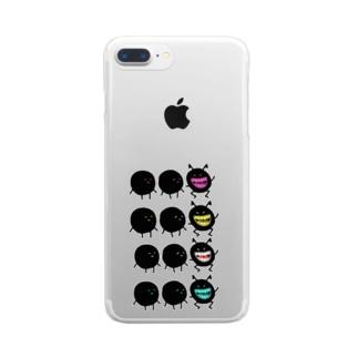 カラフルな悪魔くん。 Clear smartphone cases