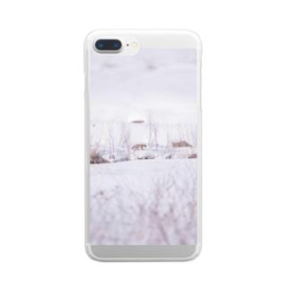 川の向こうのキタキツネ Clear smartphone cases