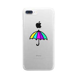 レインボーアンブレラ Clear smartphone cases