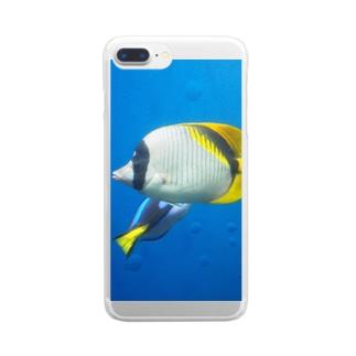 アクアマリン 魚 Clear smartphone cases