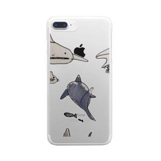サメくん Clear smartphone cases