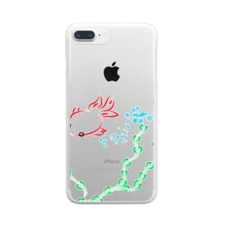 金魚と水草 Clear smartphone cases
