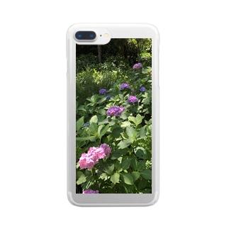 あじさい Clear Smartphone Case