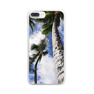 ハワイの木 Clear smartphone cases