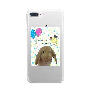 毎日くるみ Clear smartphone cases