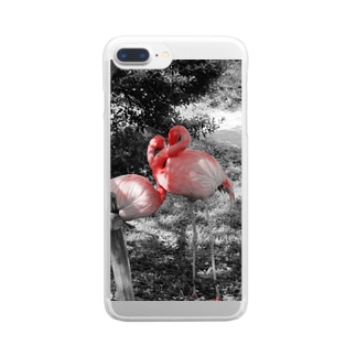 sweet×flamingo Clear smartphone cases