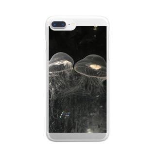 仲良しくらげ Clear smartphone cases